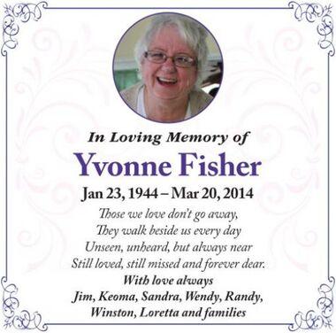 Yvonne  FISHER