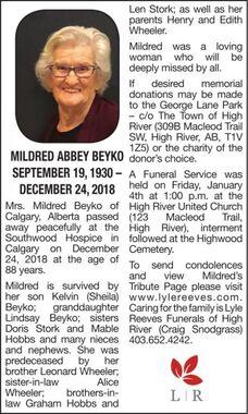 Mildred Abbey  BEYKO