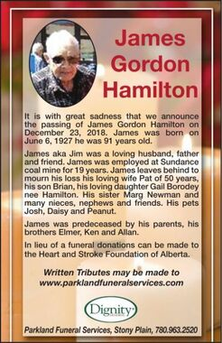 James Gordon  HAMILTON