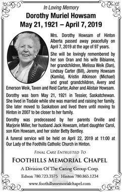 Dorothy Muriel  HOWSAM