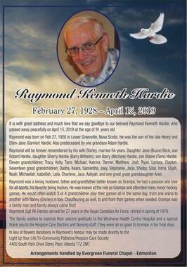 Raymond Kenneth  HARDIE