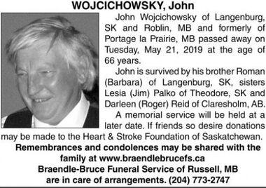 John  WOJCICHOWSKY