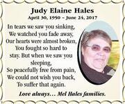 Judy  Hales