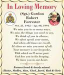(Sgt.) Gordon Robert  Forrester