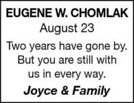 Eugene-W  Chomlak