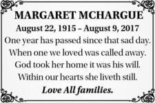 Margaret  McHargue