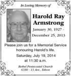 Harold  Armstrong