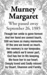 Murney  Margaret