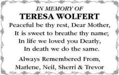 Teresa  Wolfert