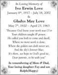 Gladys May  Love