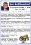 Randy Gerald  JAMES GOUGH
