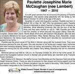 Paulette Josephine Marie  McCaughan (Nee Lambert)