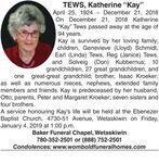 "Katherine ""Kay""  TEWS"