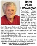 Hazel Pearl  Skeavington