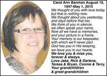 Carol Ann  Banman