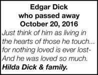 Edgar  Dick