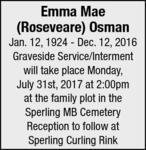 Emma Mae (Roseveare)  Osman