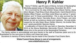 Henry  Kehler