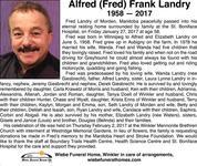 Alfred Frank  Landry