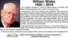 William  Wiebe