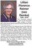 Lillian Florence (nee Demke)  Reimer