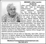Lillian Laurien (Aadland)  MESSER
