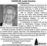 Leeta Caroline (nee Stephans)  KNOWLES