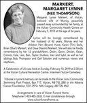Margaret Lynne(NEE THOMPSON)  MARKERT
