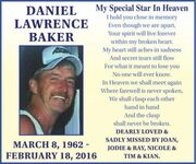 Daniel Lawrence  BAKER