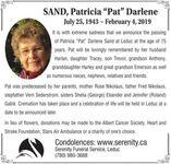 "Patricia ""Pat"" Darlene  SAND"