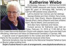 Katherine  WIEBE