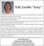"Lucille ""Lucy""  NAY"