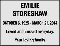 Emilie  STORESHAW