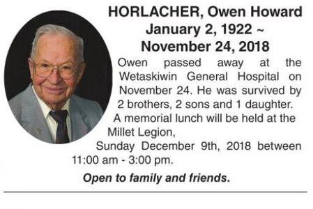 Owen Howard  HORLACHER