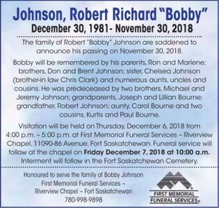 "Robert Richard""Bobby""  JOHNSON"