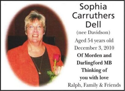 Sophia Carruthers (nee Davidson)  Dell