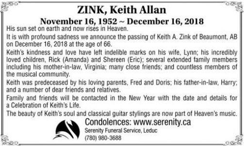 Keith Allan  ZINK