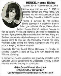Norma Elaine  HENKE