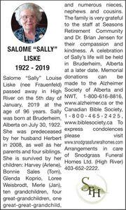 Salome Sally  LISKE