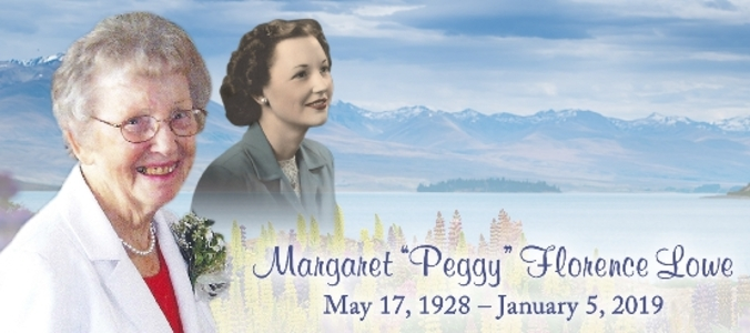 Margaret Peggy  LOWE