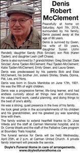 Denis Robert  McClement