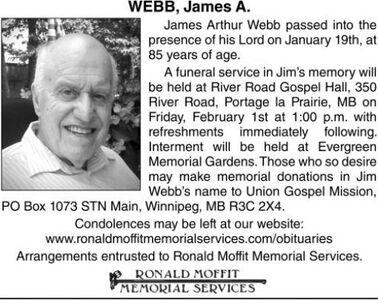 James A.  WEBB