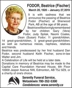 Beatrice (Fischer)  FODOR