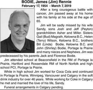 James (Jim) Rennie  BODIE