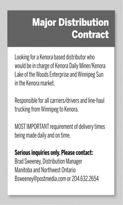 Kenora Daily Miner and News | Classifieds | Careers