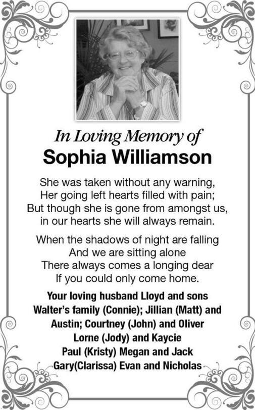 Sophia  Williamson