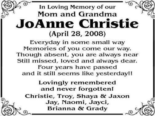 JoAnne  Christie