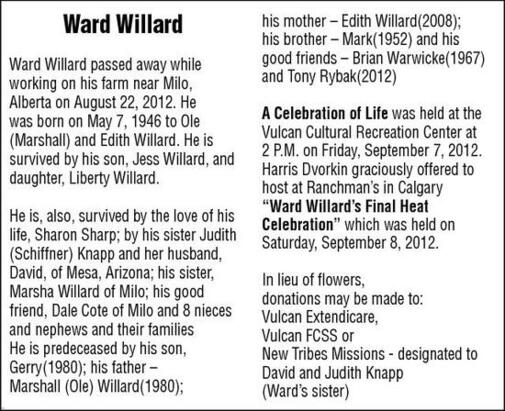 Ward Willard | In Memoriam | Vulcan Advocate