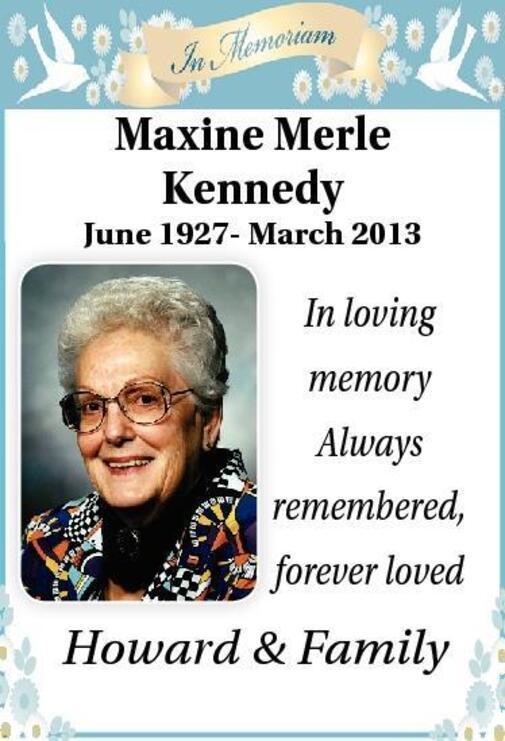 Maxine  Kennedy