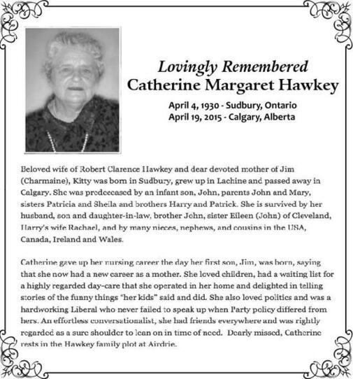 Catherine garet  Hawkey